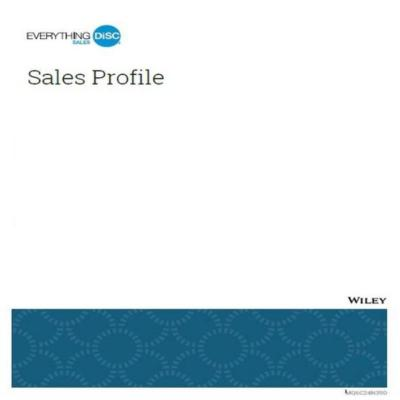 Everything DiSC® Sales Profile Report